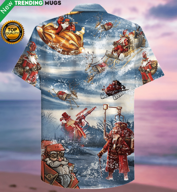 Merry Steampunk Christmas Hawaiian Shirt Jisubin Apparel