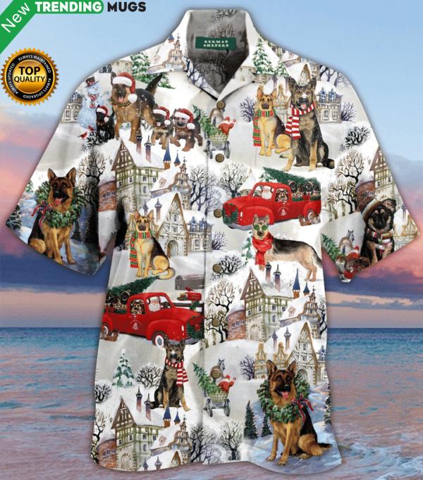 All I Want For Christmas Are German Shepherds Hawaiian Shirt Jisubin Apparel