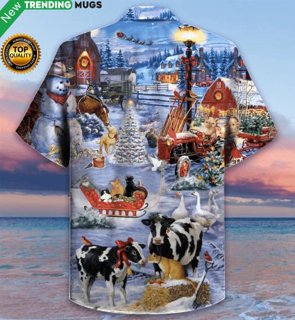 Beautiful Farm On Christmas Days Hawaiian Shirt Jisubin Apparel