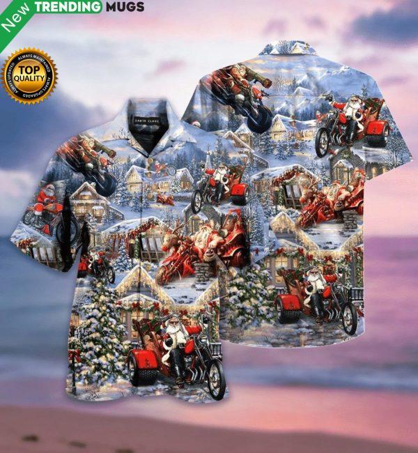 Amazing Santa Biker Hawaiian Shirt Jisubin Apparel