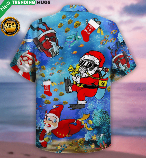 Christmas Santa Claus Dives Hawaiian Shirt Jisubin Apparel