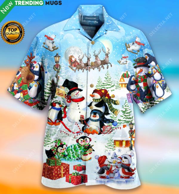 Penguins Merry Christmas Hawaiian Shirt Jisubin Apparel