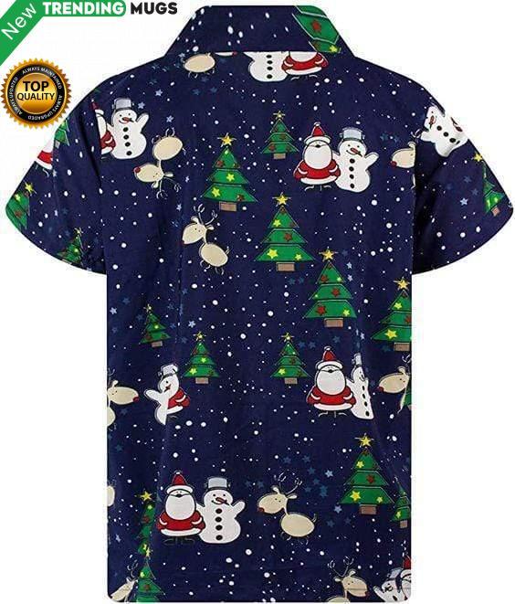 Funky Santa And Snowman Christmas Hawaiian Shirt Jisubin Apparel
