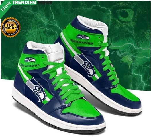 Seattle Seahawks Men Jordan Shoes Blue Shoes & Sneaker