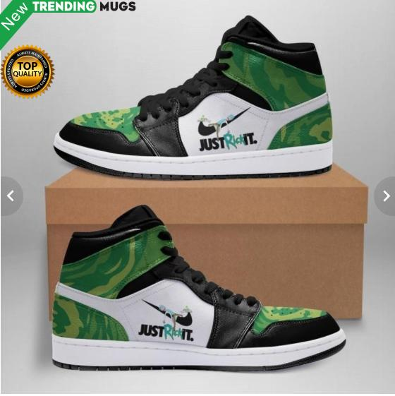 Rick And Morty White Soles Black Shoelaces Leather Sneakers Shoes & Sneaker