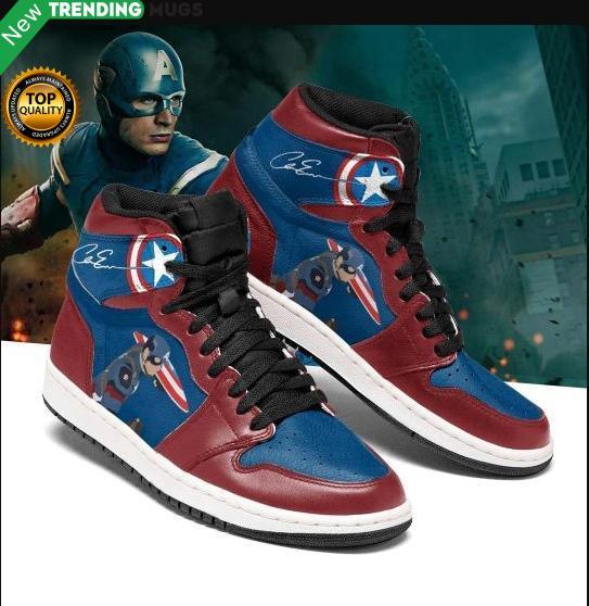Captain America Jordan Sneakers Shoes Pgc Shoes & Sneaker