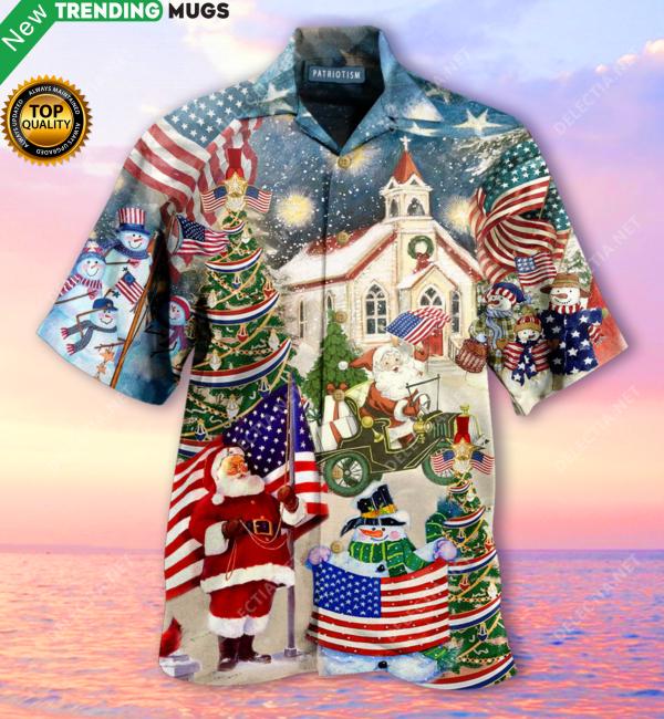 Patriotism American On Christmas Hawaiian Shirt Jisubin Apparel