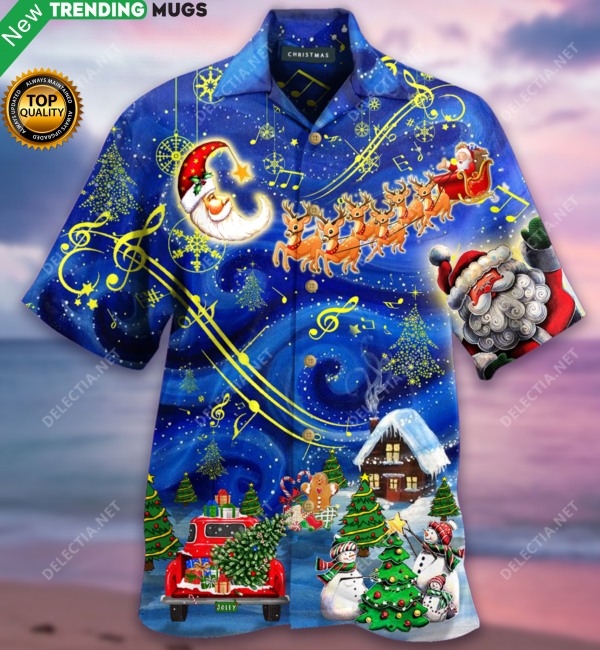 Christmas Sky Hawaiian Shirt Jisubin Apparel