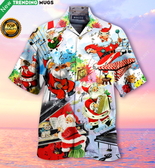 Party Music On Christmas Hawaiian Shirt Jisubin Apparel