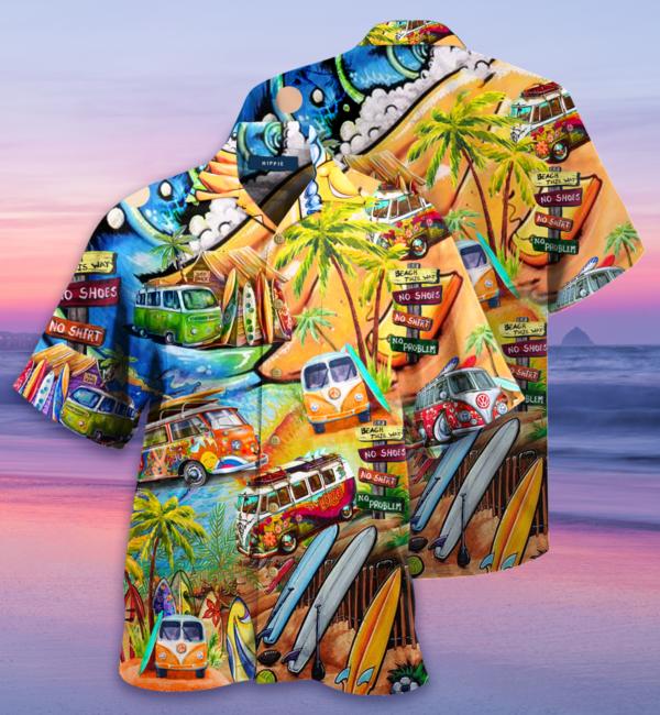 Amazing Happy As A Hippie Hawaiian Shirt Jisubin Apparel