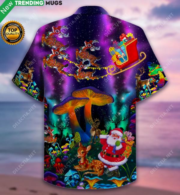 Mushroom Funny Christmas Hawaiian Shirt Jisubin Apparel
