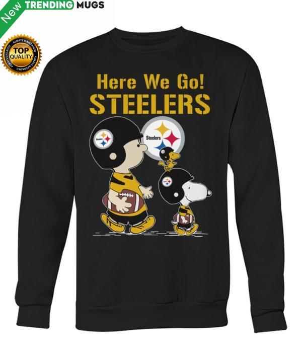 Charlie Brown And Snoopy Here We Go Steelers Shirt Jisubin Apparel