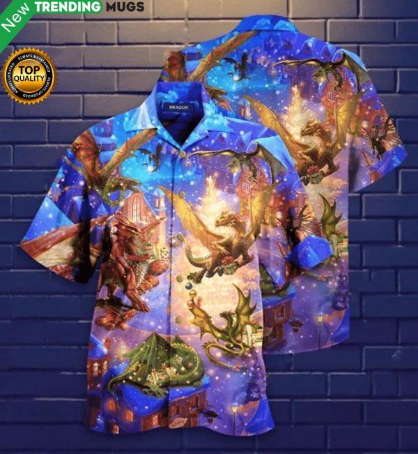 Believe In The Magic Of Christmas Dragon Hawaiian Shirt Jisubin Apparel