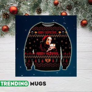 Abby Normal Knitting Pattern 3D Print Ugly Sweatshirt