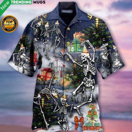 All My Skeletons Out For Dancing Hawaiian Shirt Jisubin Apparel