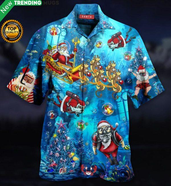 Santa Claus Explore The Sea Hawaiian Shirt Jisubin Apparel