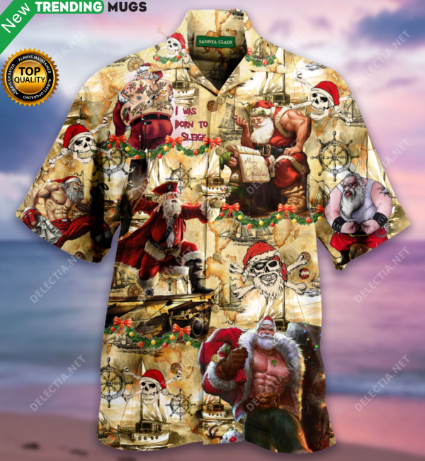 Pirate Santa Claus Christmas Hawaiian Shirt Jisubin Apparel