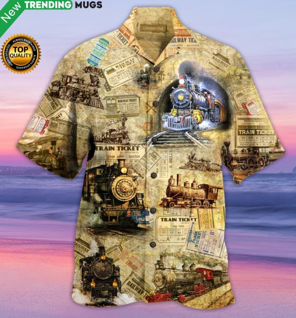 Amazing Train Locomotive Hawaiian Shirt Jisubin Apparel