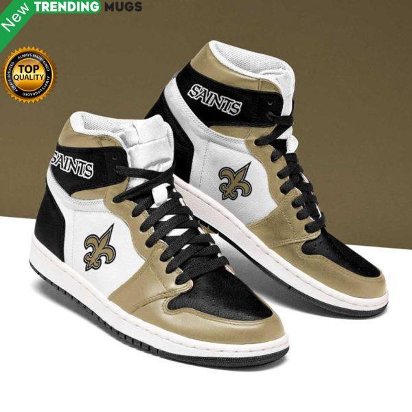 New Orleans Saints Gold Black Running Shoes Jordan Sneaker Shoes & Sneaker