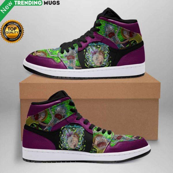 Rick And Morty Jordan Sneakers Zombie Custom Jordan Shoe Sneaker Dakingmanstore Shoes & Sneaker