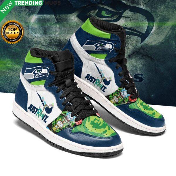 Rick And Morty Seattle Seahawks Jordan Sneakers Custom Jordan Shoe Sneaker Dakingmanstore Shoes & Sneaker