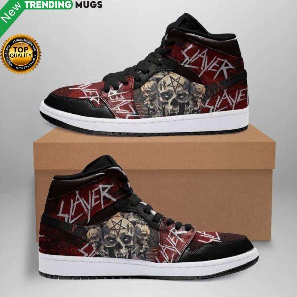 Slayer Jordan Sneaker Custom Jordan Shoe Sneaker Dakingmanstore Shoes & Sneaker