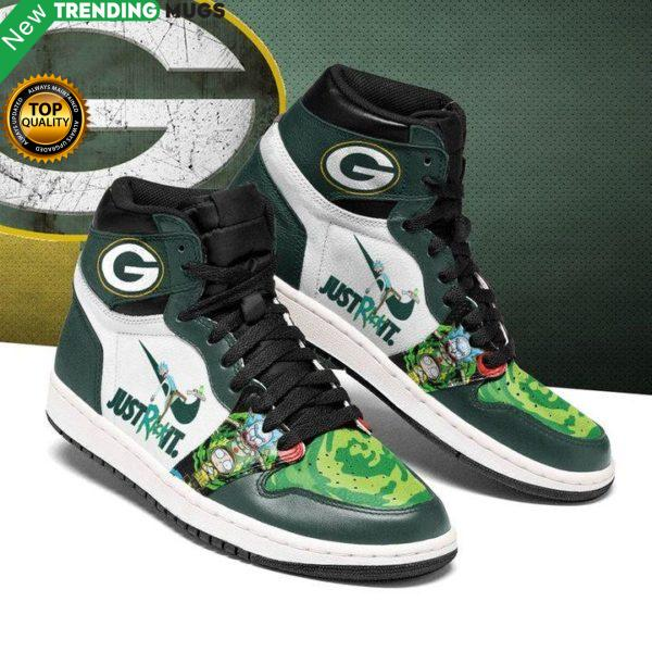 Rick And Morty Green Bay Packers Jordan Sneakers Custom Jordan Shoe Sneaker Shoes & Sneaker