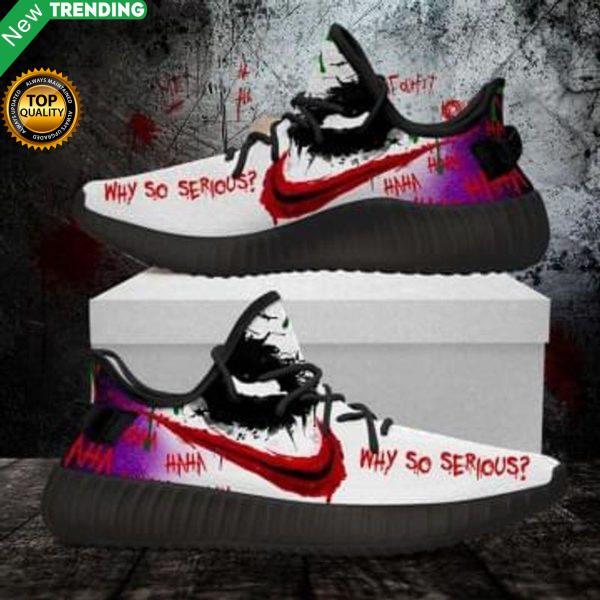 Joker Horror Hahaha Why So Serious Shoes Yeezy Sneaker (Women Size) Shoes & Sneaker