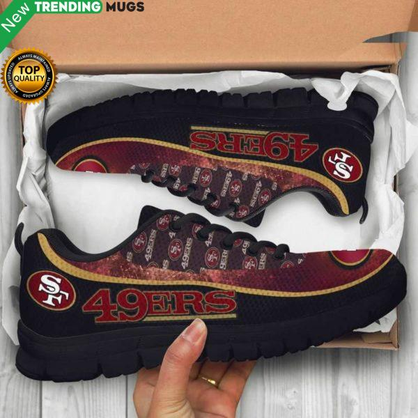 San Francisco 49Ers Unisex Breathable Sneakers Football Custom Shoes San Francisco 49Ers Cheap Sneakers Boost Shoes & Sneaker