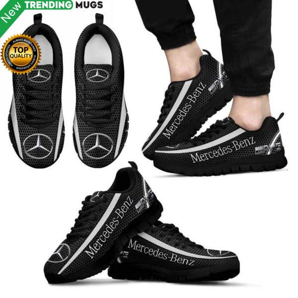 Mercedes Benz Unisex Breathable Sneakers Cars Custom Shoes Mercedes Benz Luxury Sneakers Boost Shoes & Sneaker