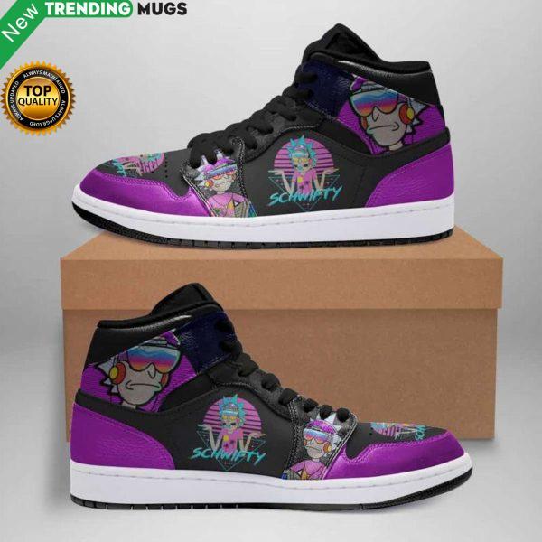 Schwifty Rick And Morty Jordan Sneakers Custom Jordan Shoe Sneaker Shoes & Sneaker