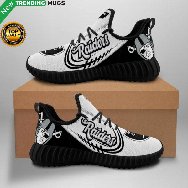 Oakland Raiders Unisex Sneakers New Sneakers Football Custom Shoes Oakland Raiders Yeezy Boost Shoes & Sneaker