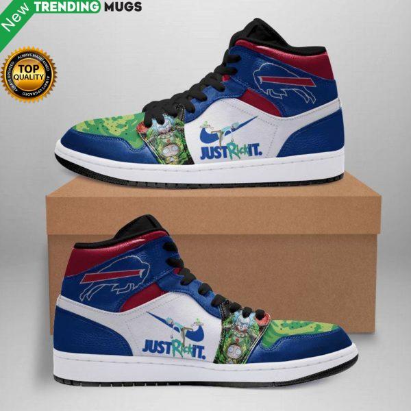 Rick And Morty Buffalo Bills Jordan Sneakers Custom Jordan Shoe Sneaker Shoes & Sneaker