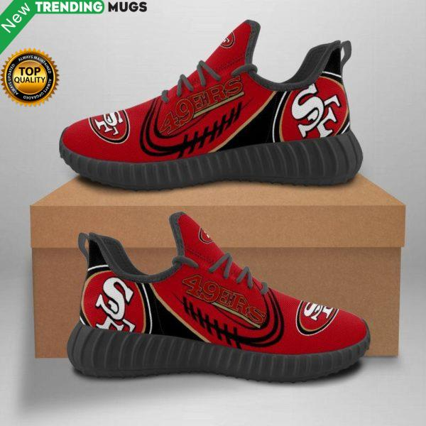 San Francisco 49Ers Unisex Sneakers New Sneakers Football Custom Shoes San Francisco 49Ers Yeezy Boost Shoes & Sneaker