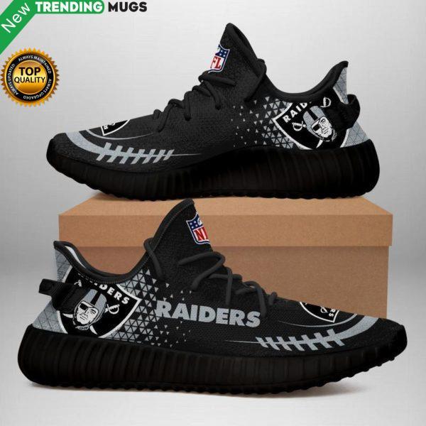 Oakland Raiders 2 Unisex Sneaker Football Custom Shoes Oakland Raiders Yeezy Boost Shoes & Sneaker
