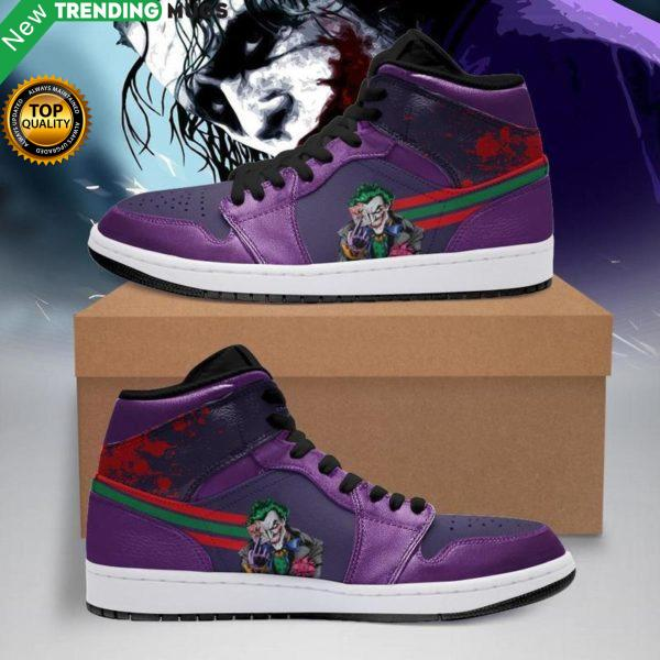 Joker Movie Men Jordan Shoes Unique Joker Custom Sneakers Shoes & Sneaker