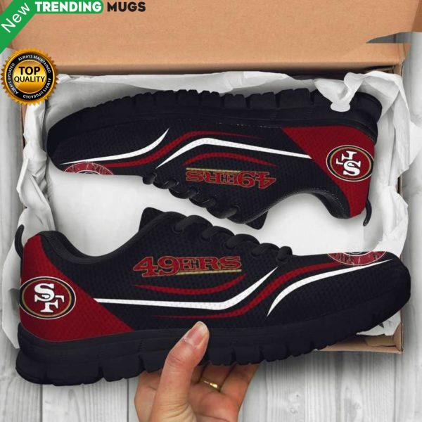 San Francisco 49Ers Unisex Breathable Sneakers Football Custom Shoes 49Ers Cheap Sneakers Boost Shoes & Sneaker