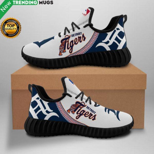 Detroit Tigers Unisex Sneakers New Sneakers Baseball Custom Shoes Detroit Tigers Yeezy Boost Shoes & Sneaker