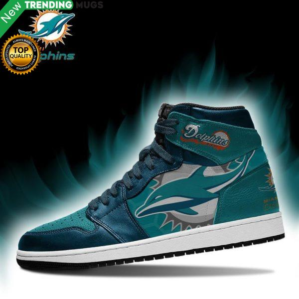 Miami Dolphins Men Jordan Shoes Unique Football Custom Sneakers Shoes & Sneaker