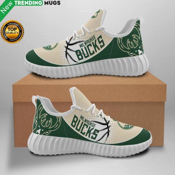 Milwaukee Bucks Unisex Sneakers New Sneakers Basketball Custom Shoes Milwaukee Bucks Yeezy Boost Shoes & Sneaker