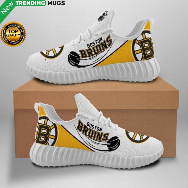 Boston Bruins Unisex Sneakers New Sneakers Hockey Custom Shoes Boston Bruins Yeezy Boost Shoes & Sneaker