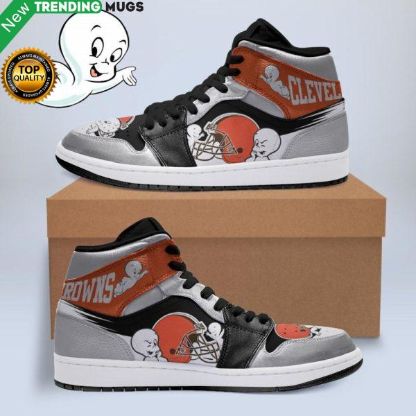 Boo Ghost Cleveland Browns Nfl Jordan Sneakers Shoes & Sneaker