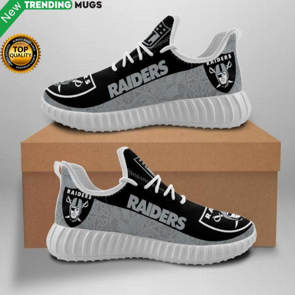 Oakland Raiders Unisex Sneakers New Sneakers Custom Shoes Nfl Yeezy Boost Shoes & Sneaker