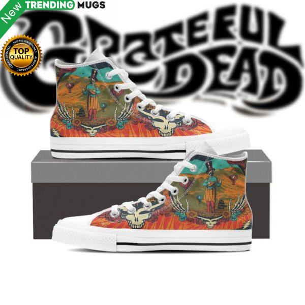 Grateful Dead Unisex Hight Top Custom Shoes Rock Hight Top Sneaker Shoes & Sneaker