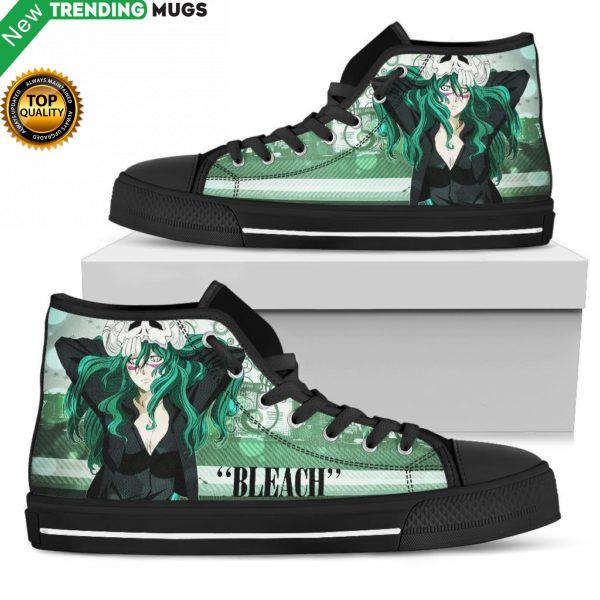 Bleach Shoes Nel Tu High Top Sneakers Green Hair Anime Shoes & Sneaker