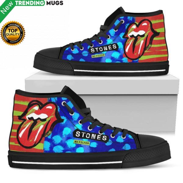 Rolling Stone No Filter Sneakers High Top Shoes Fan Gift Idea Shoes & Sneaker