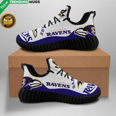 Baltimore Ravens Unisex Sneakers New Sneakers Custom Shoes Football Yeezy Boost Shoes & Sneaker