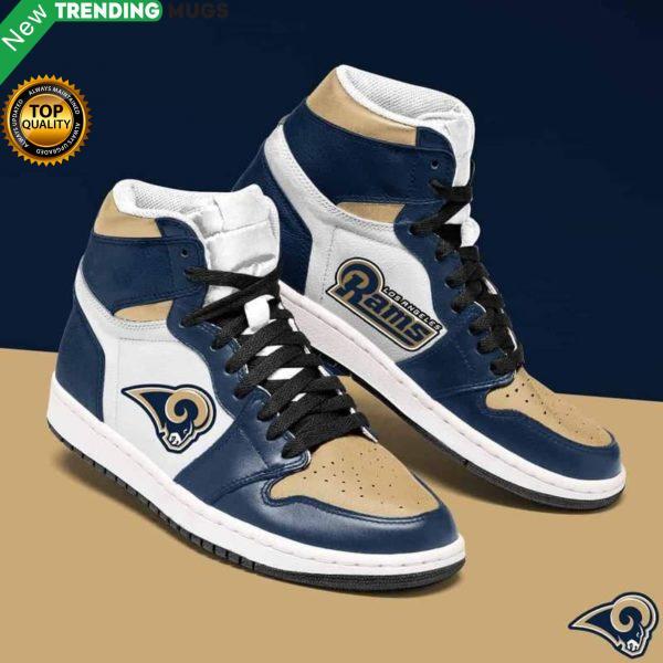 Los Angeles Rams Nfl Men Jordan Shoes Unique Los Angeles Rams Custom Sneakers Shoes & Sneaker