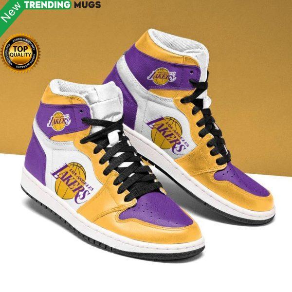 Los Angeles Lakers Men Jordan Shoes Unique Basketball Custom Sneakers Shoes & Sneaker