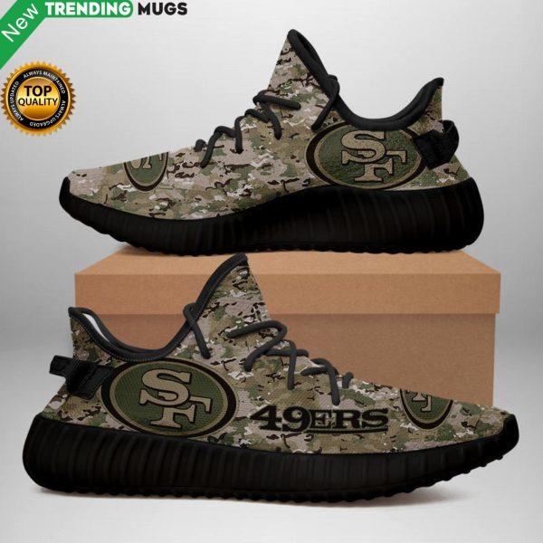 San Francisco 49Ers U.S. Military Camouflage Unisex Sneaker Football Custom Shoes San Francisco 49Ers Yeezy Boost Shoes & Sneaker